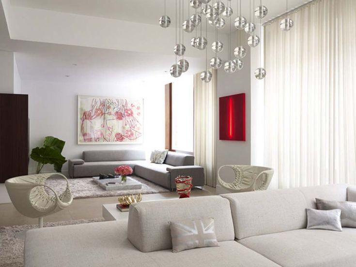 Minimalist luxury apartment design living room decor