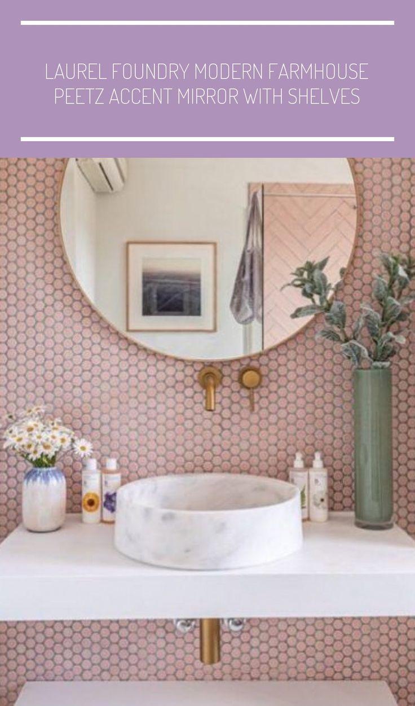 Bathroom DESIGN feminine bathroom design // pink accent