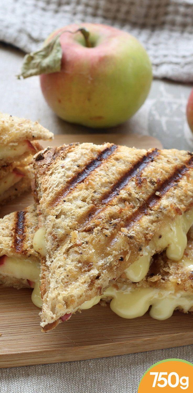 Croque monsieur aux pommes et au camembert