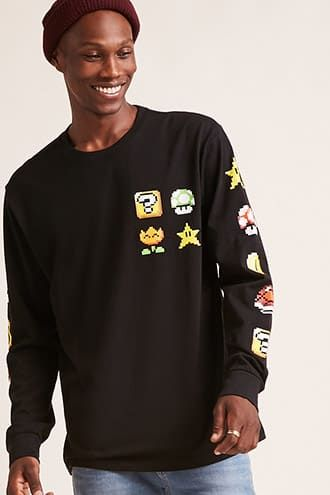 fa8b8926 Super Mario World Graphic Long-Sleeve Tee | Products in 2019 | Mens ...