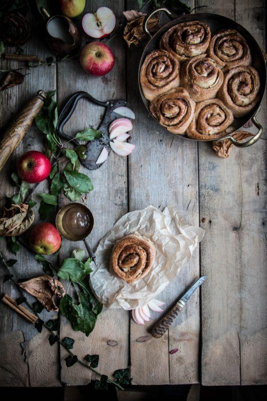 vegan spelt apple cinnamon buns collaboration - twigg studios