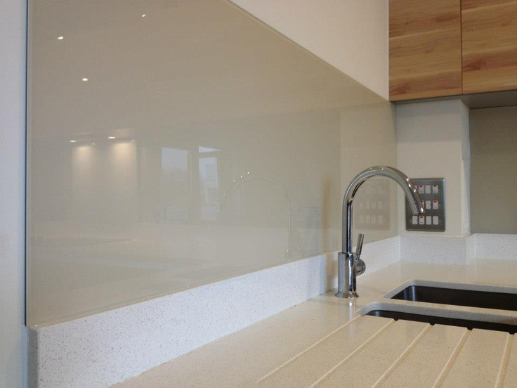 Kitchen Glass Backsplashes--paint the back any color and install on the wall