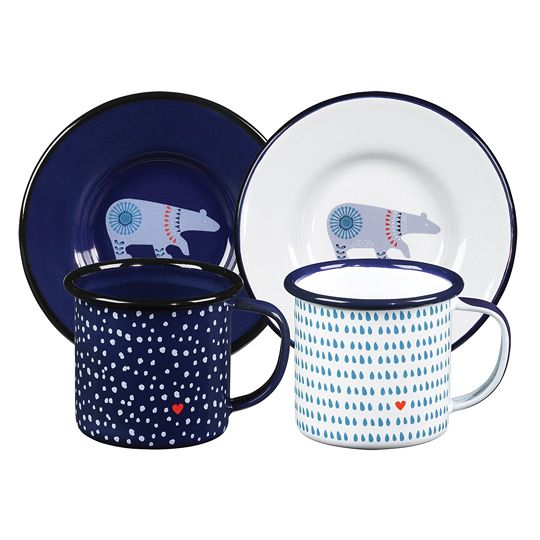 Кружки кофейные с блюдцами 'Folklore', набор 2 шт.