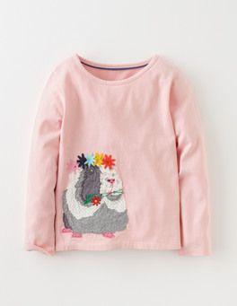 Powder Pink Guinea Pig Patchwork Appliqué T-shirt Boden
