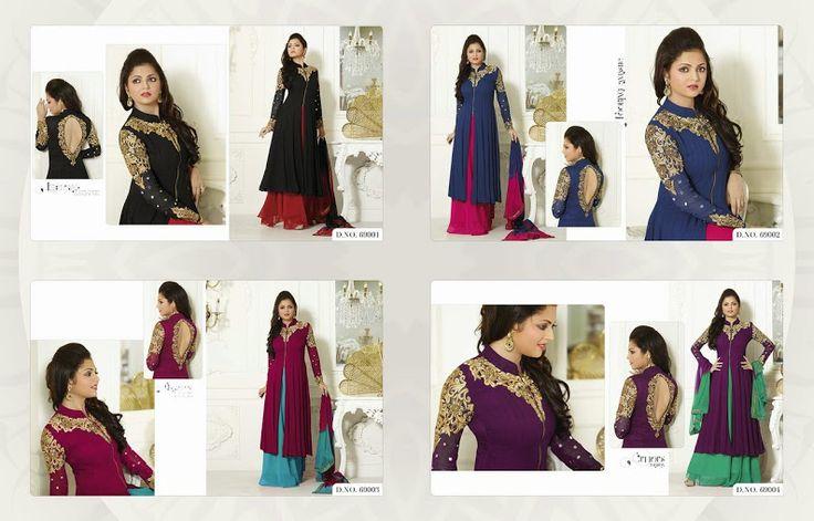 Drashti Dhami designer Wedding Suit available in four colous. ( Catalog - Vol-69)