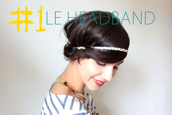 3 cute dos for short hair. In French but easy to follow video without words