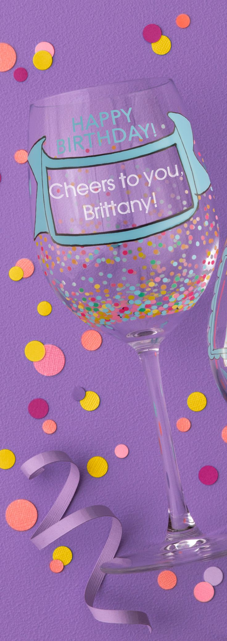 A personalized Birthday Confetti Wine Glass is a great birthday gift for the wine-lover in your life! Engrave a name monogram or birthday message on the front of the glass. Check out this great gift for her!