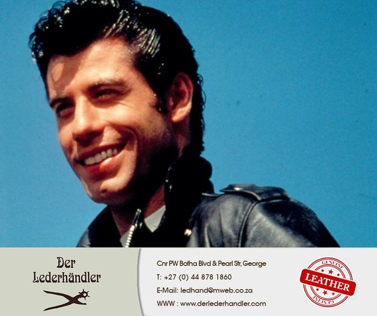 John Travolta plays leather-wearing Danny Zuko in this very well known movie from 1978. Who can name the title of the movie? #DerLederhandler #TuesdayTrivia #leatherlove