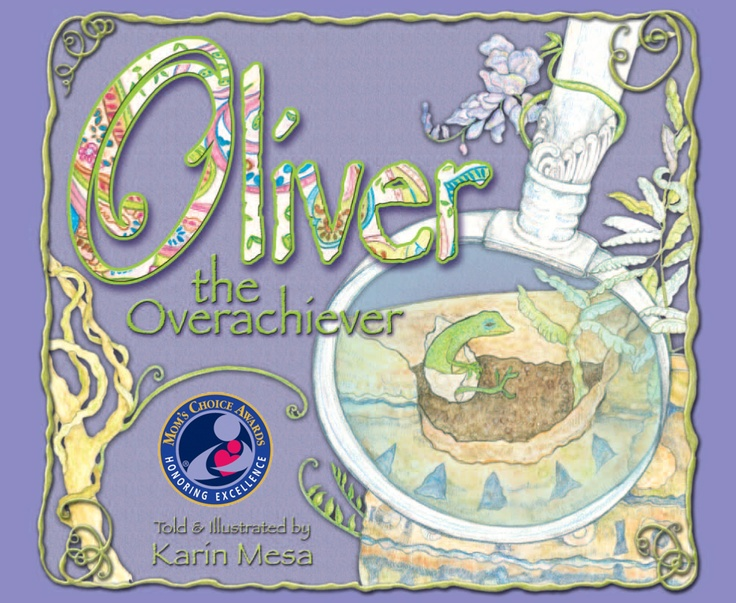 Oliver the Overachiever, 2012 Mom's Choice Gold award winner, is a rhyming story about a small lizard (an anole) who knows there is more to life than just green or brown. He has an adventurous life, which inspires others, as he discovers the most powerful thing he can be is himself!  $18.95 from author