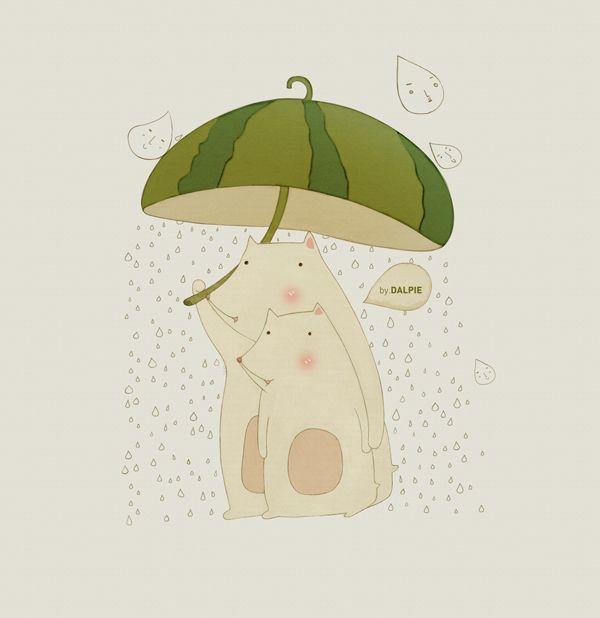 Rainy Day by kim do young, via Behance