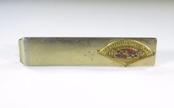 Rare Tie Clip with Cadillac Certified Craftsman League 1957 Award