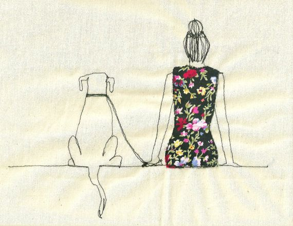 Print of an embroidered illustration by Sarah by SewSarahWalton, $32.00
