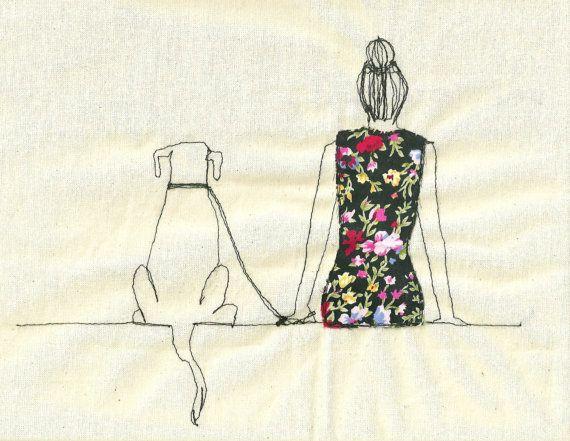 Impression d'une illustration brodée par Sarah par SewSarahWalton, $32.00