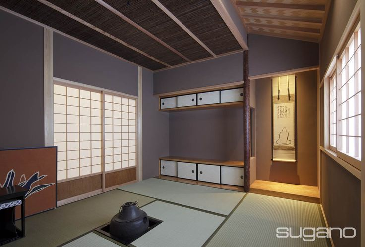 4.5帖の広さの茶室。床柱には赤松を使いました。茶室に隣接して水屋を設けています。 #和風建築 #和風住宅 #茶室 #菅野企画設計