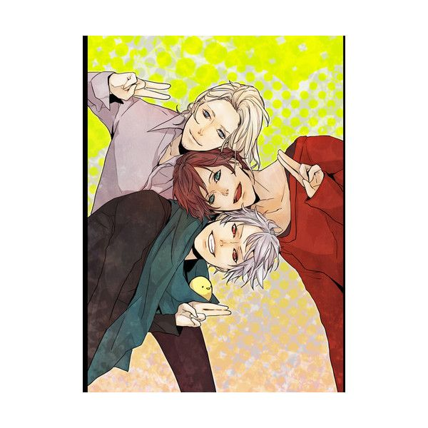 bad touch trio! | Tumblr ❤ liked on Polyvore featuring hetalia