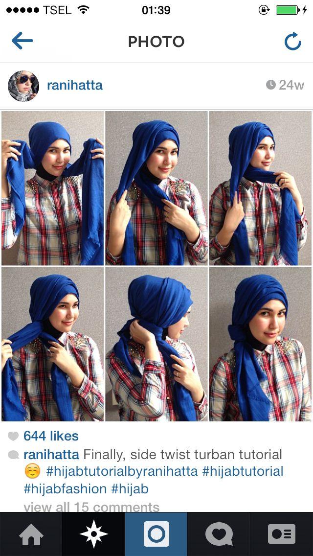 Side turban from @ranihatta.