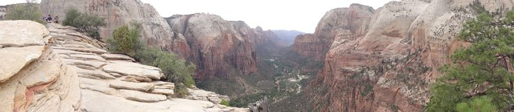 Picture I took from the top of Angels Landing! Zion National Park, Utah.