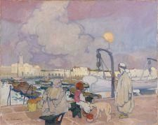 Léon Cauvy Le port de l'Amirauté, Alger Oil on canvas  32.5 x 40.5 cm | MutualArt