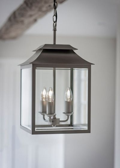 Complete with a non adjustable cable supporting chain cord and atrio of bulb holders the Sarsden pendant light is surrounded by glass; youu0026rsquo;llfind it ... & 9 best Hallway lanterns images on Pinterest   Hall lighting ... azcodes.com