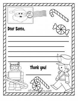 Printable christmas wish list toys to santa claus - Printable Coloring Pages For Kids