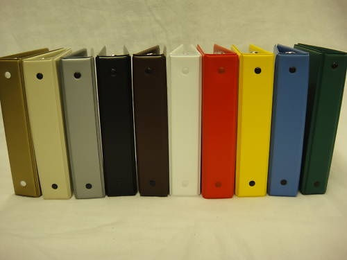 Mini Dealer Stock Book Binders 6-Ring apx 5 x 7 - I love the short binders, great for organizing inventory and other home/office paperwork