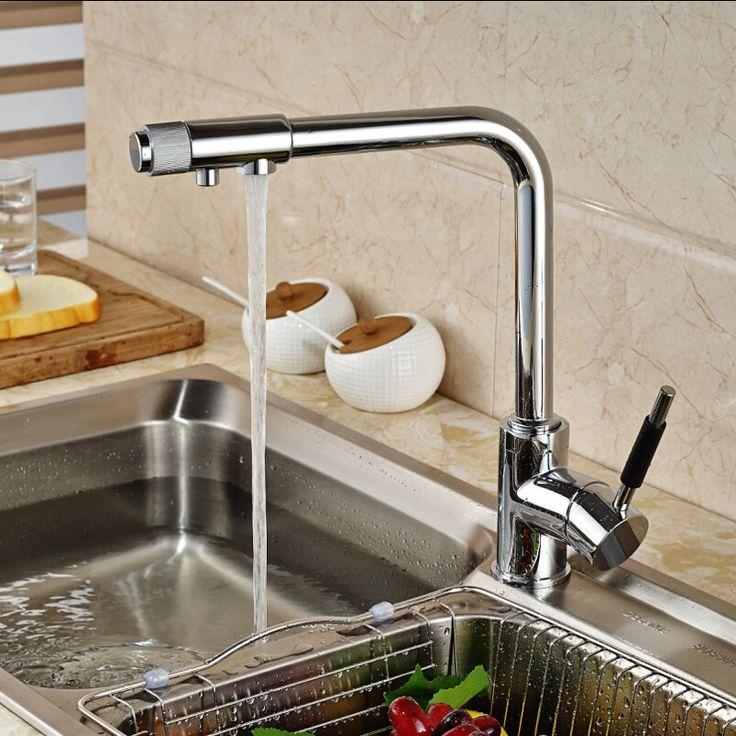 32 best Kitchen Faucets images on Pinterest | Antique brass ...