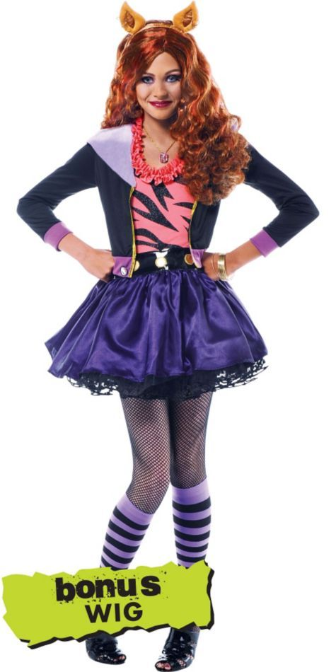Girls Monster High Clawdeen Wolf Costume - Party City