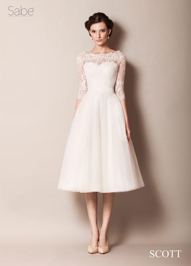 Sabe short wedding dress