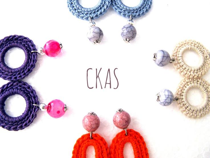 Ethnic Modern Handmade Crochet Earrings  https://www.etsy.com/listing/129358099/orecchini-celesti-ad-uncinetto-con?ref=shop_home_active