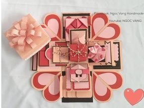 [Tutorial exploding Box ] House Shaped Exploding gift Box (Part 1) - NGOC VANG [2/5] - YouTube