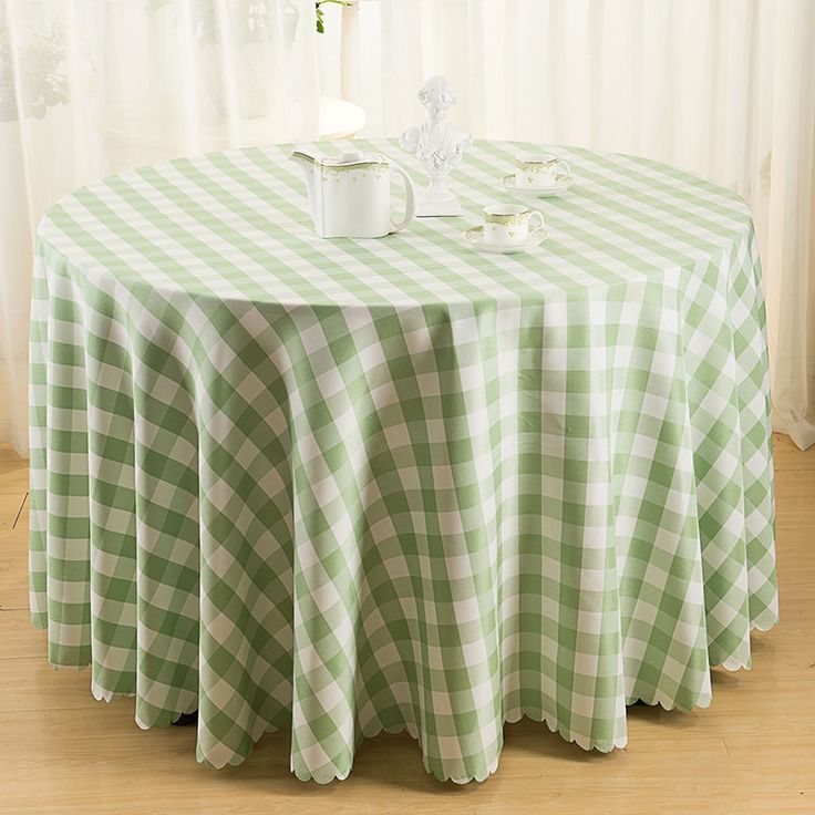 Modern Pastoral Table Cloth Plaid Table Cover Round Square Picnic Tablecloth Wedding Party Decortion Table Cloths toalha de mesa #Affiliate