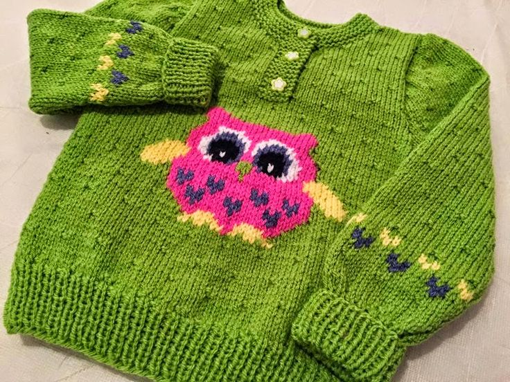 The Daily Knitter & Crocheter: Owl chart sweater and my new project