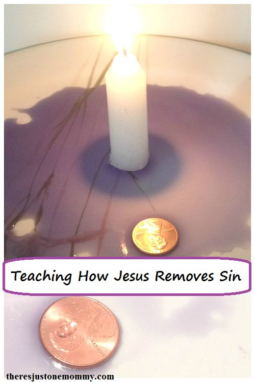 Using the rising water experiment to teach how Jesus removes sin -- great kids activity for Easter