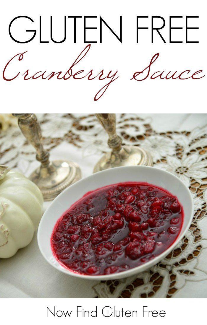 Gluten Free Cranberry Sauce | Gluten Free Thanksgiving | Gluten Free Thanksgiving Recipes | GF Cranberry Sauce Recipe || Now Find Gluten Free