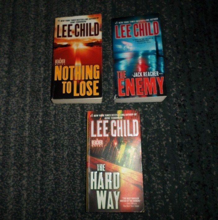 Lot Of 3 Three LEE CHILD JACK REACHER Thriller Novel Paperback Books, Good Shape