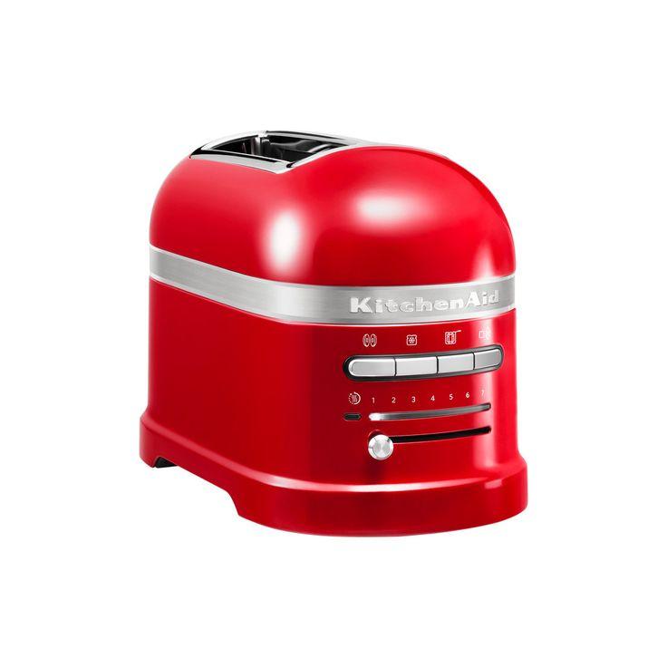 KitchenAid broodrooster 2 sleuven Artisan - keuken ideeën #broodrooster #design #rood