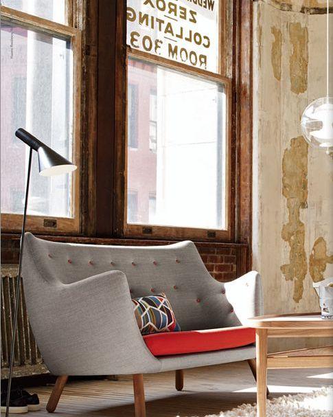 Finn Juhl Poet Sofa, via frenchbydesign.bl...