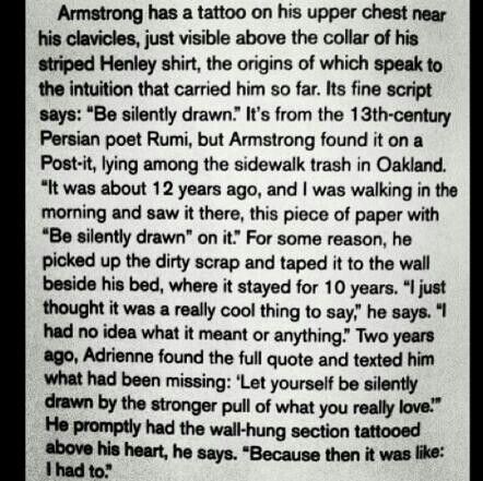 "Story of Billie's ""Be Silently Drawn"" tattoo! :)"