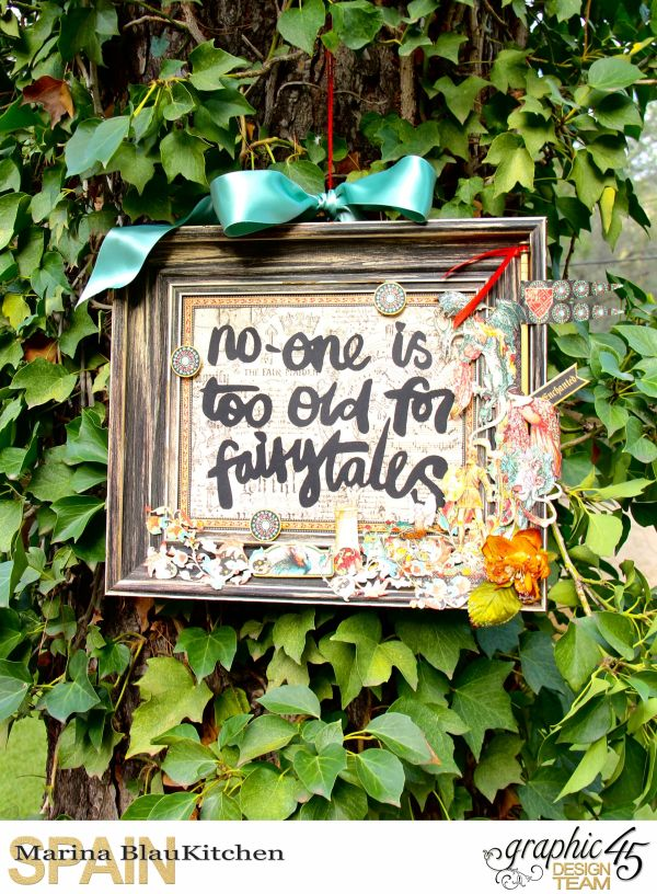 Hanging quote Enchanted Forest Tutorial by Marina Blaukitchen Product by Graphic 45 photo 1