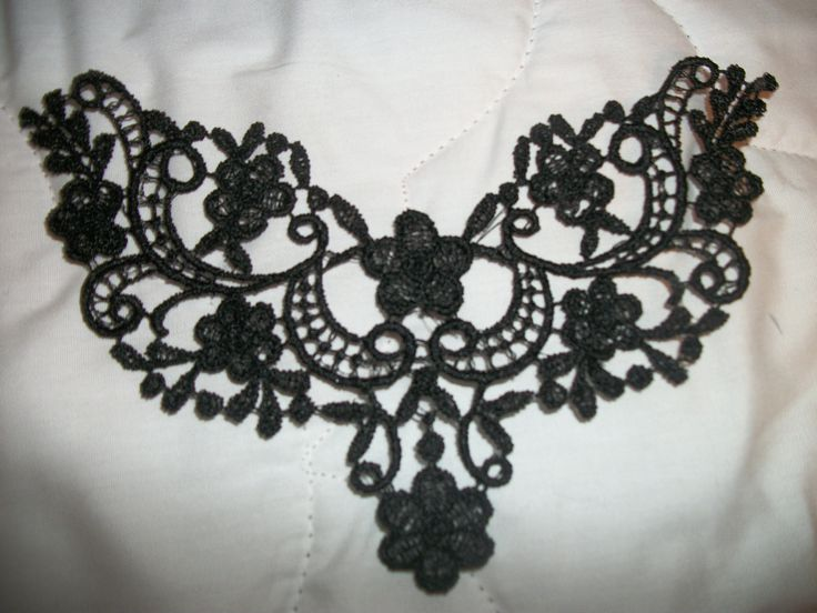 Steampunk gothic black lace applique PAFA free by AbbysSpareTime, $3.50