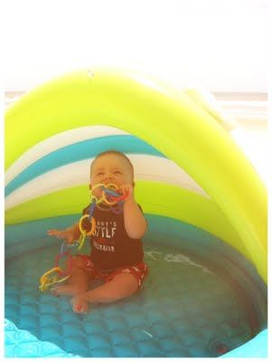 Baby pool with canopy, smart for beach trip as well as kicking at 7932 this summer.