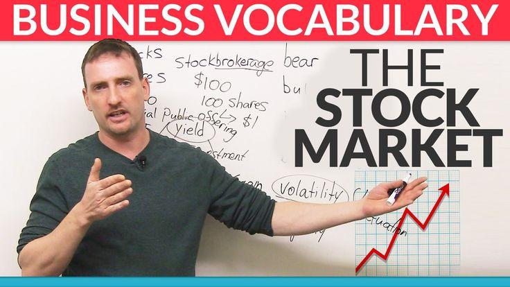 Business English Vocabulary: The Stock Market - YouTube