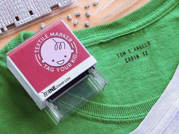 Custom Clothing Stamp by Mine Stamp  ---I wish I had known about this when my Mother was in the nursing home.  It ruined so many garments, putting her name on them in big black marker!  This would be easy to read and discreet!