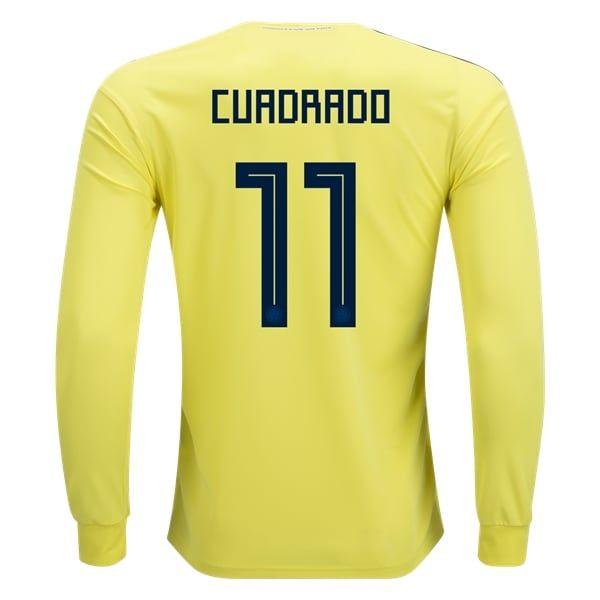 adidas Juan Cuadrado Colombia Long Sleeve Home Jersey 2018