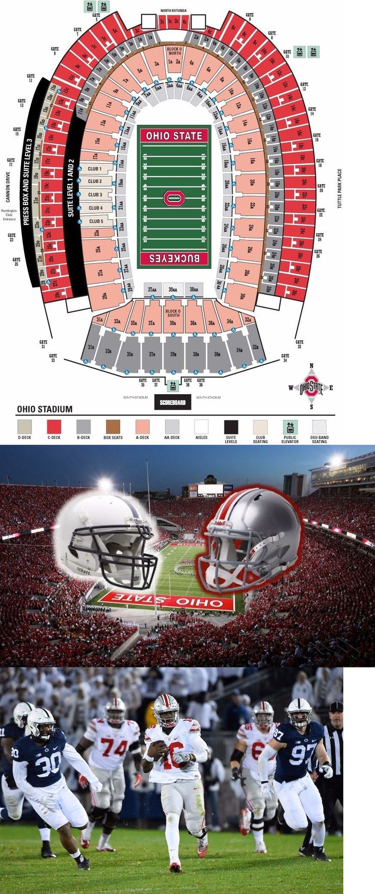 Other Football 2024: 2 Tickets Ohio State Vs Penn State 10 28 Section 5B Row 6!!! -> BUY IT NOW ONLY: $500 on eBay!