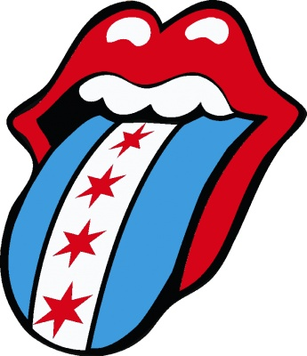 The Rolling Stones Chicago Flag Logo