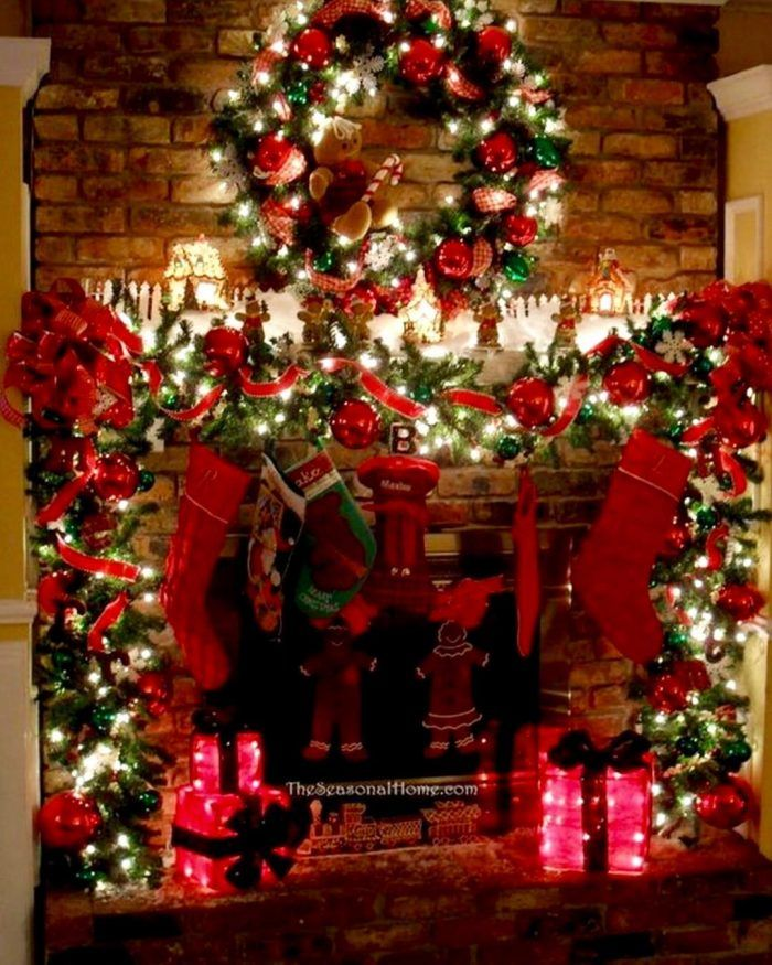 Country Christmas Mantel Decorating Ideas Part - 44: Christmas Mantel Mantelpiece Ideas ??