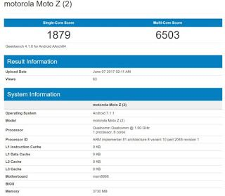 Tech News India: Motorola flagship Moto Z2 spotted on GeekBench.