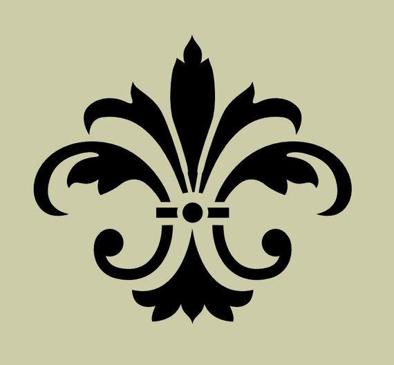 STENCIL Fleur de lis No 8 5x4.5