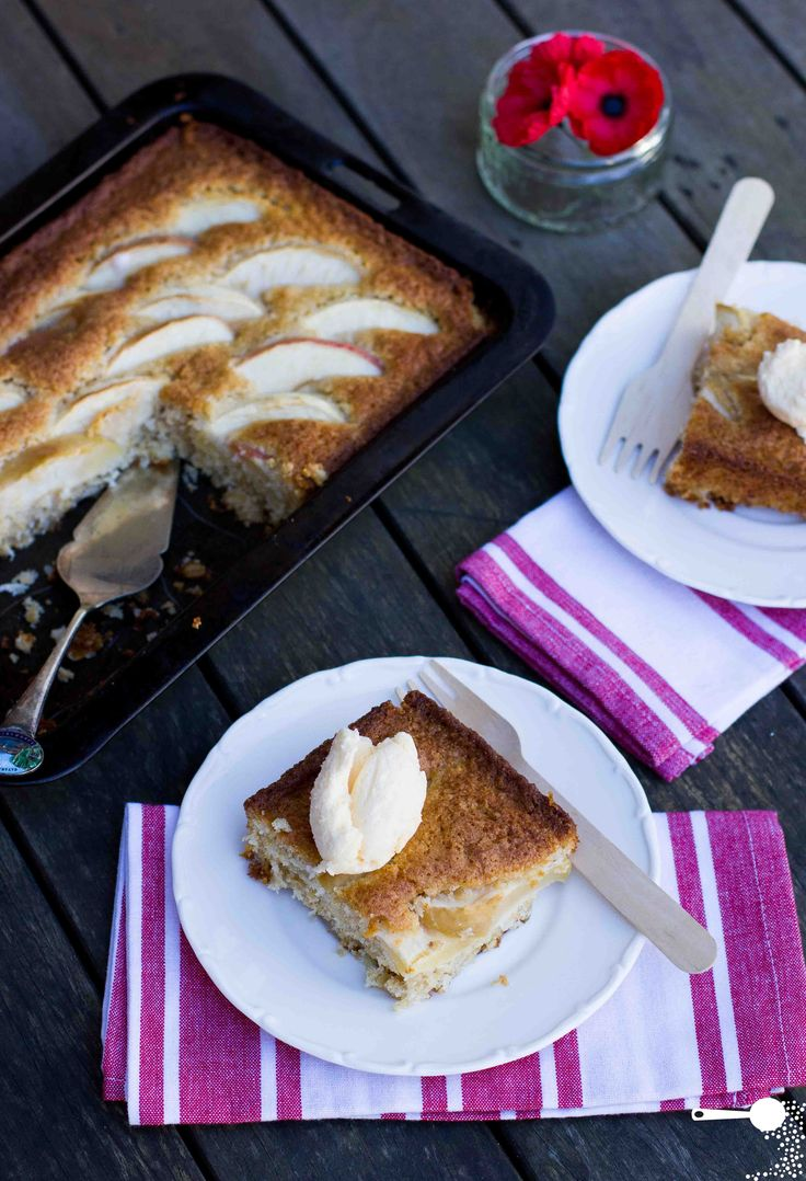 Mix and bake coconut, oat and apple slice // for ANZAC Day | Wholesome Cook